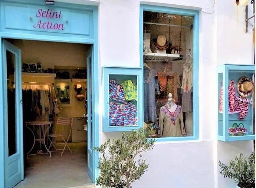 Children clothes shop in Paros